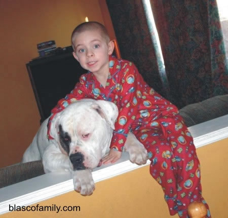American Bulldog Blasco's Doc Holliday with son, John